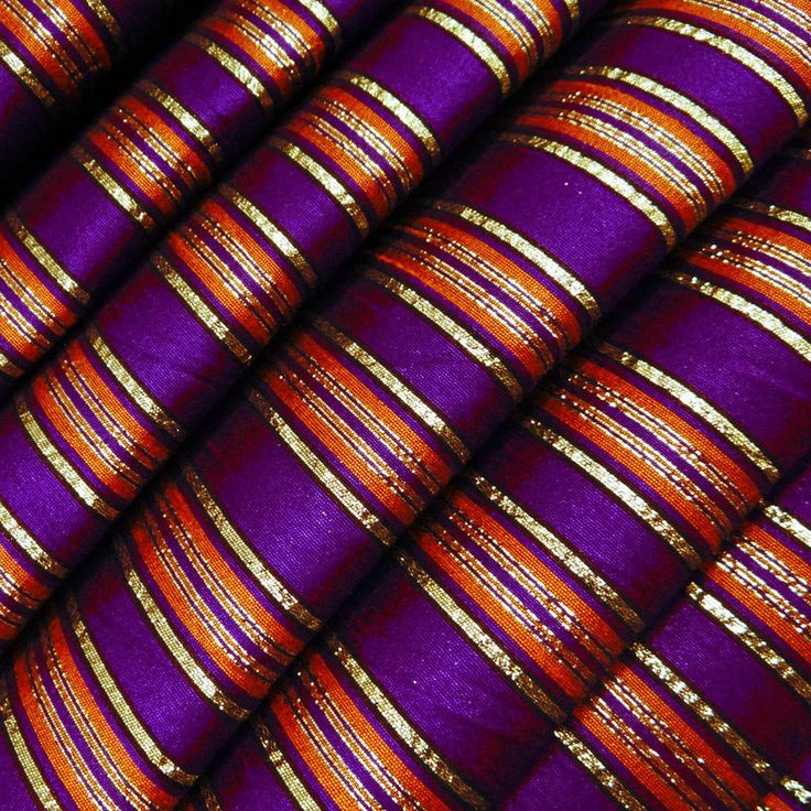 ... Silk Fabric Stripe Style Pattern Curtain Dress Quilt Pillow By 1 Yd