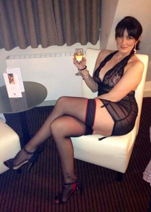 Mature stocking wife