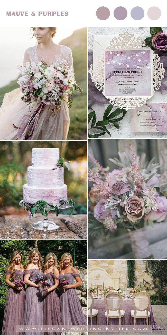 Watercolor Mauve And Purple Fa Winter Wedding Colors Mauve