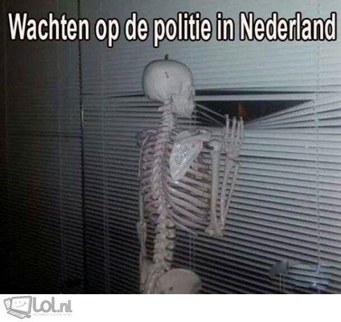 Wachten op de politie