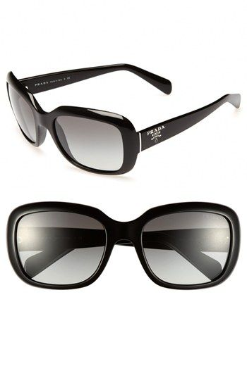 Protect those baby blues with these glamorous oversized sunglasses with from Prada available at #Nordstrom. #Accessories2014