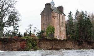 Queen's neighbours at historic Scottish castle forced to flee floods Laird of Abergeldie Castle, close to Balmoral, vacates ancestral home as swollen river sweeps away parts of estate