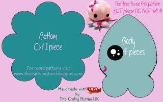 Cute Plush Patterns Free | The Crafty Button: Free octopus sewing pattern