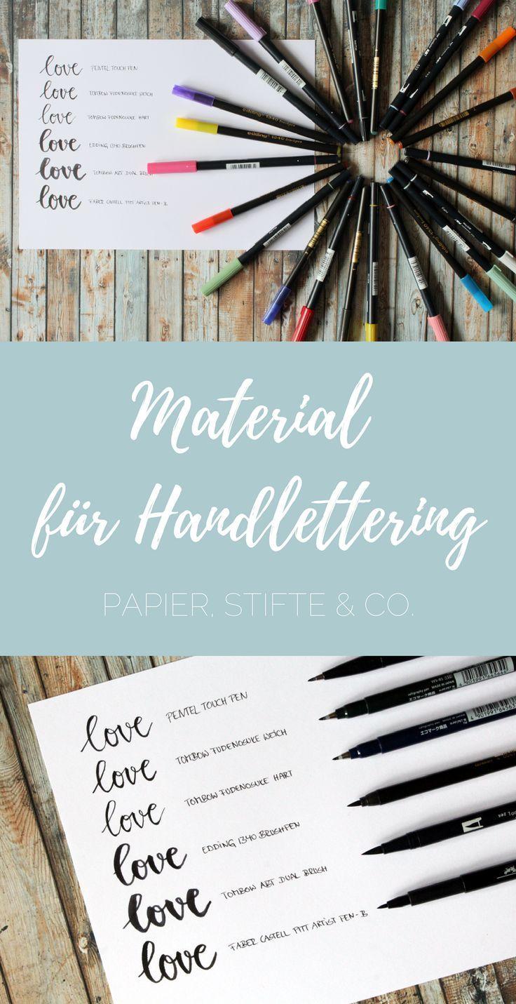 Material For Handlettering Paper Pens More Bullet Journal