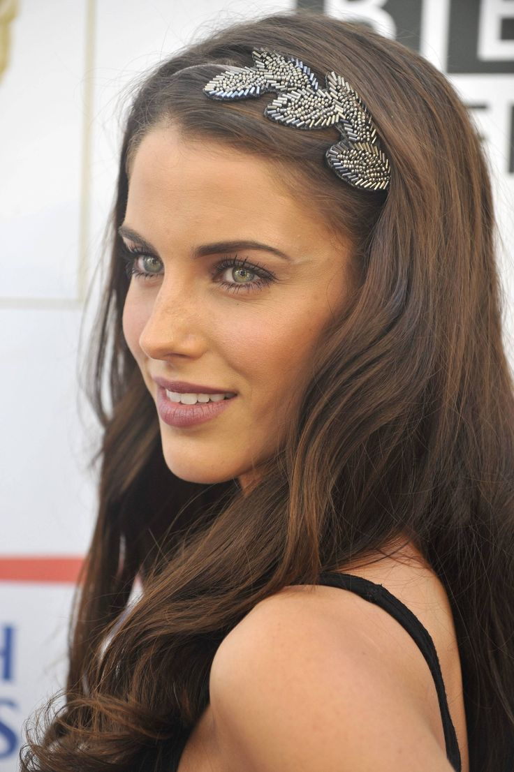 #wedding #hair Jessica Lowndes...love the headband!