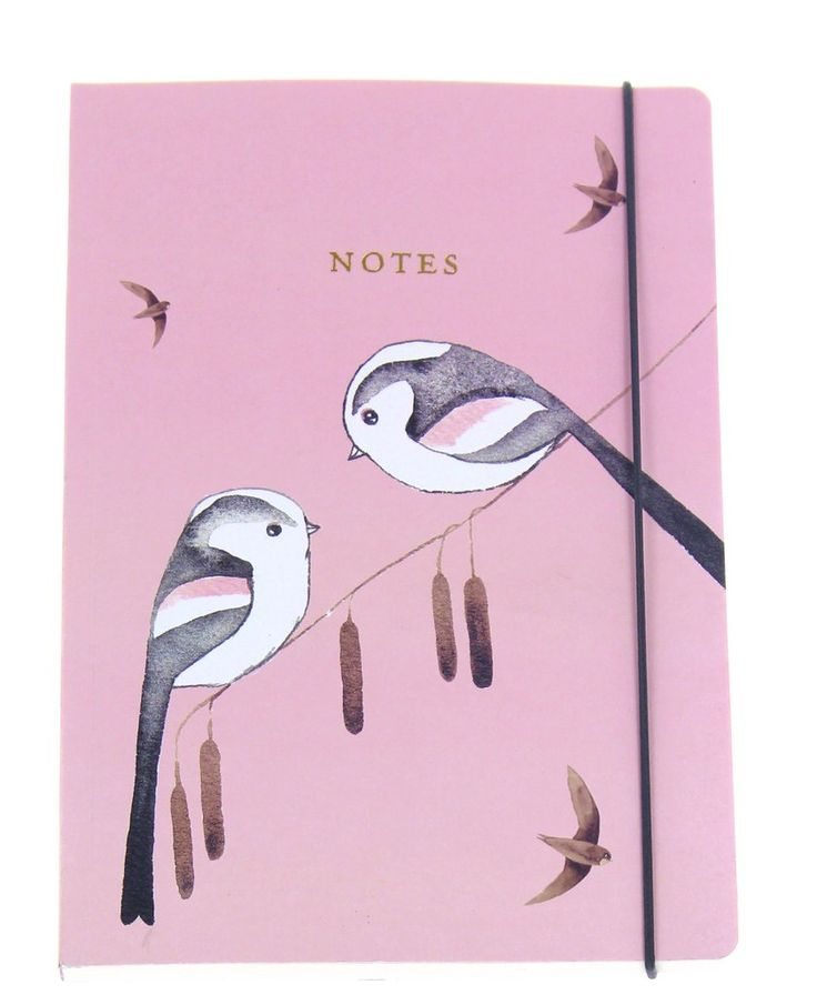 Matt Sewell's Birds A5 Notebook – Long-Tailed Tits - This beautiful notebook, with a soft pink cover and charming bird illustration, has 192 pages for yo... £7.00