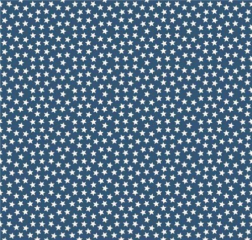 Dunkelblauer Riley Blake kleiner weißer Stern Stoff - Punkte, Streifen, Karo - Stoffe - kawaii shop modeS4u