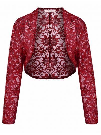 Wine red Short Crop Shrug Coat