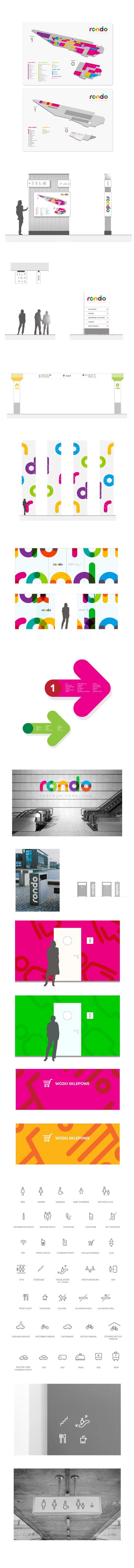 shopping mall RONDO re-branding by piotrek bdsn okrasa, via Behance