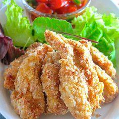 胃袋満たしちゃう度120%♪『むね肉 de おつまみスティックチキン〜サルサソース添え〜』《簡単*節約》