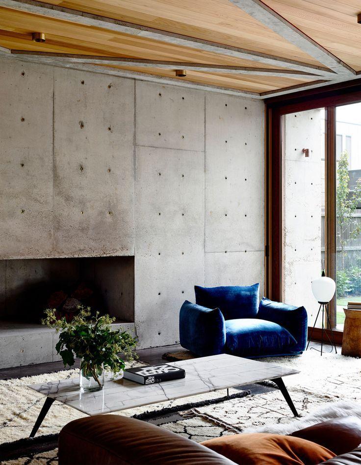 Concrete Wood Interior The Design Files Find Inspiration Visit Www Abitare Studio Wood Interior Design Modernist Interior Concrete Walls Interior