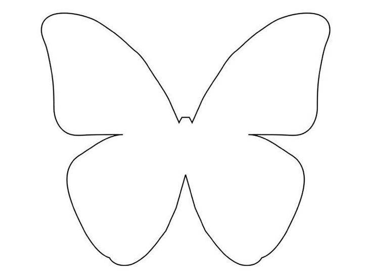 Открытка бабочка шаблон