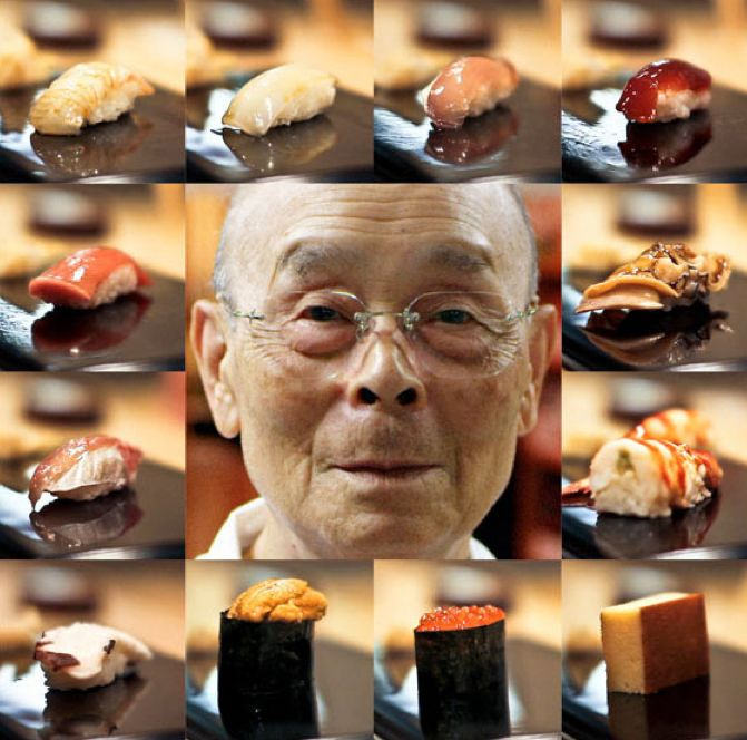 """Chef Jiro Ono has been recognized by the Japanese government as a national treasure and """"modern master"""" for his contributions to Japanese cuisine. He has received three Michelin stars. The awards an accolades for this masterful chef are endless. And to believe he is over 80 years old."""