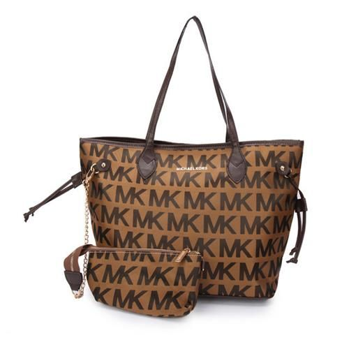 #fashion You Can Enjoy Wonderful Life With The Best Michael Kors Jet Set Signature Large Coffee Totes!