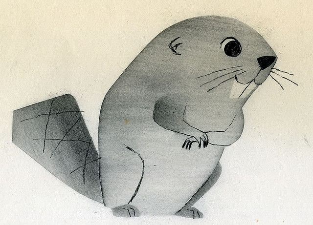 Ray Patin Beaver animation drawing by grickily, via Flickr