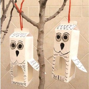Love these recycled owl cartons! #homesfornature