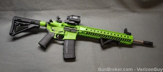 Spikes Tactical Zombie Green Cerakote AR-15 AR15