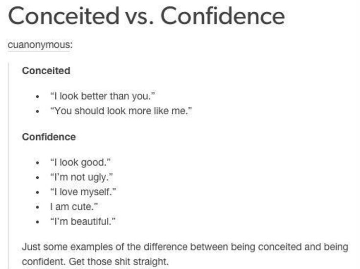 I always differentiate the two because I always paired up conceited with arrogance