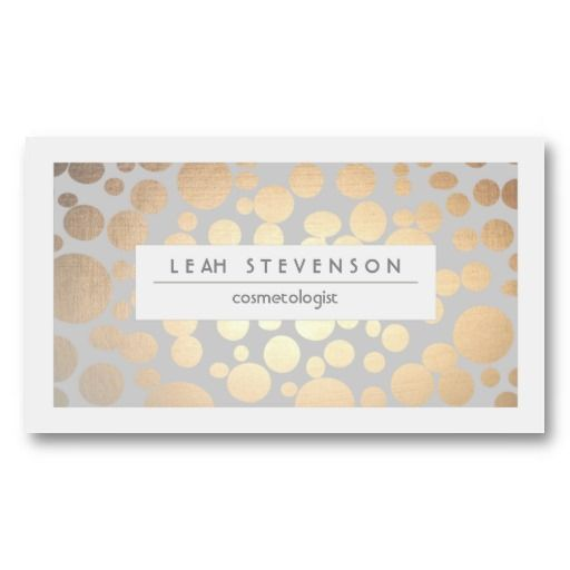 18 best tastefully simple business cards images on pinterest faux gold leaf cosmetologist business card reheart Image collections