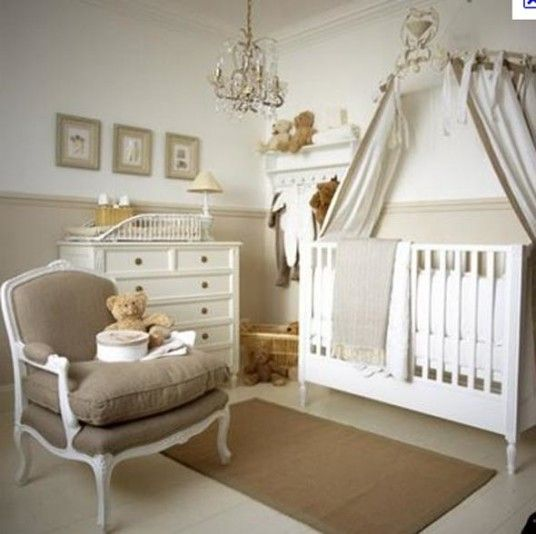 Beautiful Beige Baby Room Ideas Crystal Chandelier White Drawers   This Is  So Peaceful And Classy