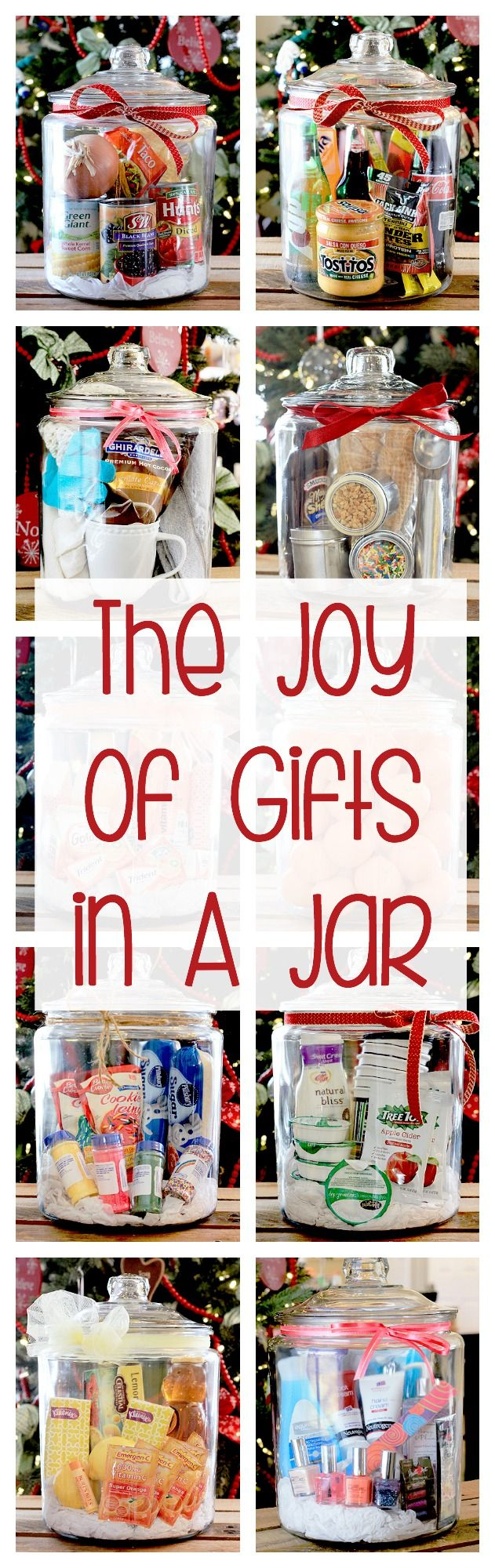 Gifts in a Jar are festive, customizable and fun to put together!