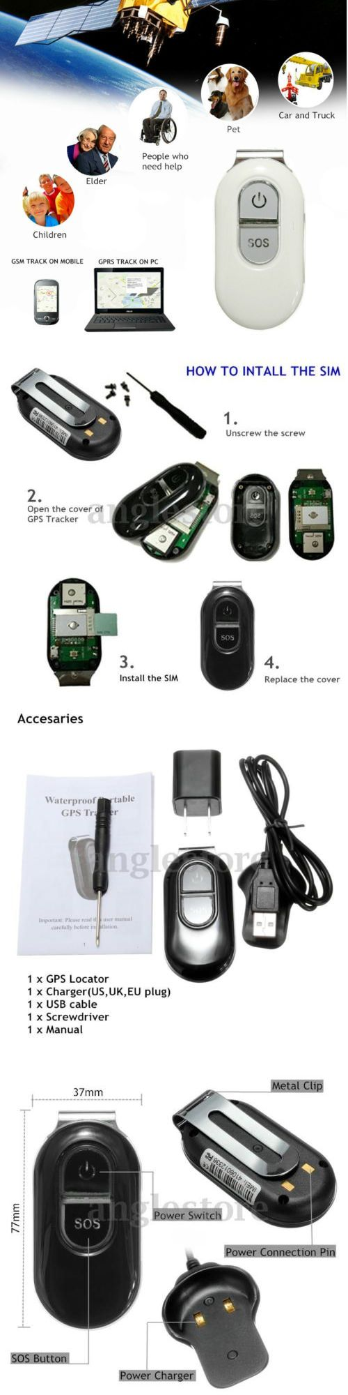 Tracking Devices: Vehicle Tracking Device Global Locator Real Time Car Kid Gsm Gprs Gps Waterproof -> BUY IT NOW ONLY: $30.98 on eBay!