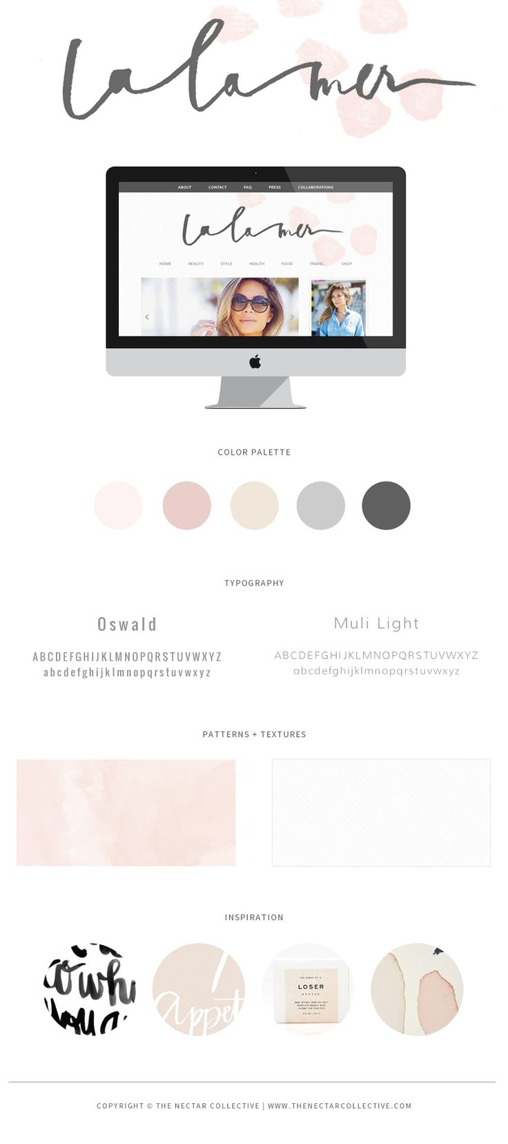 La La Mer Branding + Blog Design - The Nectar Collective