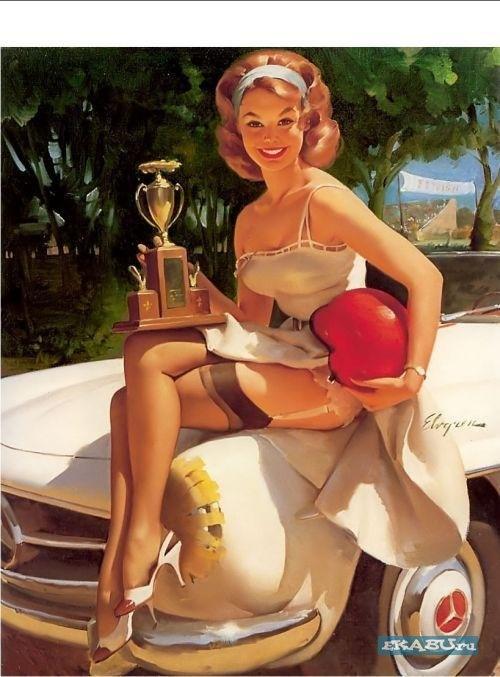 Pin Up Girl in 1940s: Gilelvgren, Pinupart, Fast Lass, Vintage Pinup, Pinupgirl, Pinup Girls, Pinup Art, Gil Elvgren, Pin Up Girls
