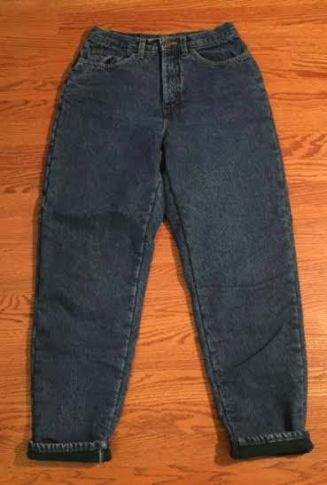 Vintage 90's Flannel-lined Jeans / size medium tall / by LL Bean by VintageRiverCity on Etsy