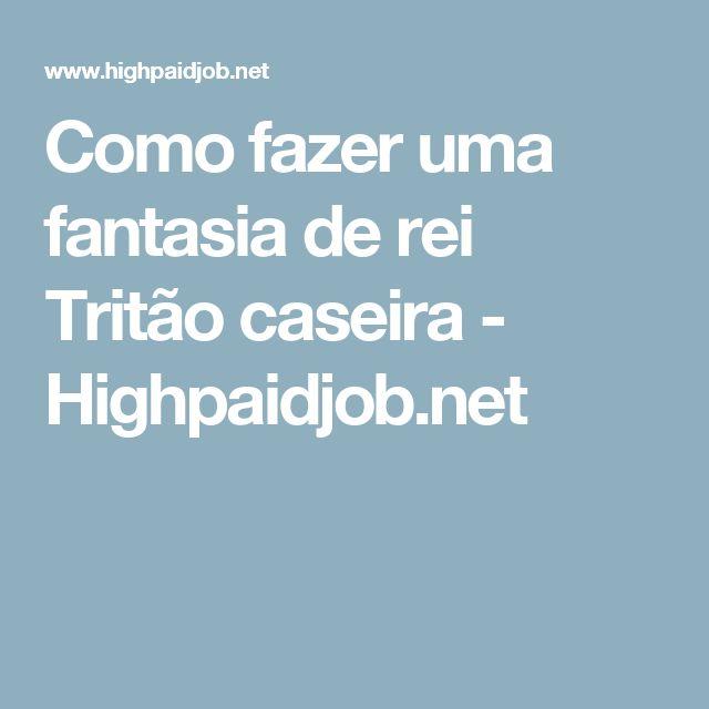 Como fazer uma fantasia de rei Tritão caseira - Highpaidjob.net