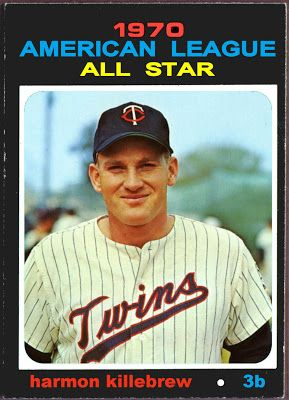 1971 Topps Harmon Killebrew All-Star, Minnesota Twins, Baseball Cards That Never Were