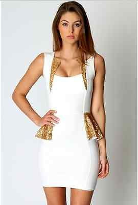 Gold glitter club dress
