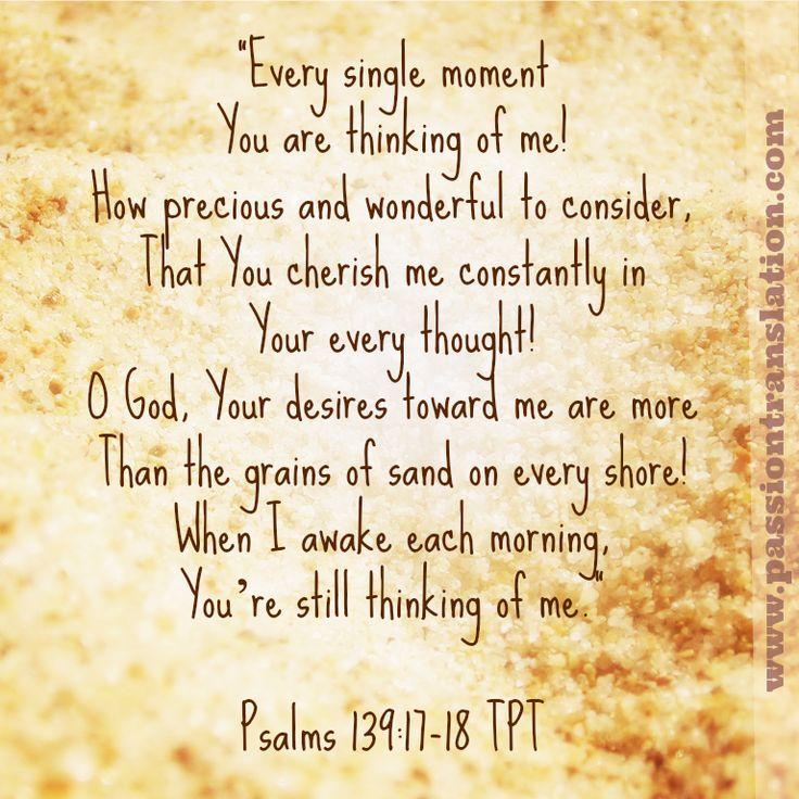 Psalms 139: 17-18 The Passion Translation