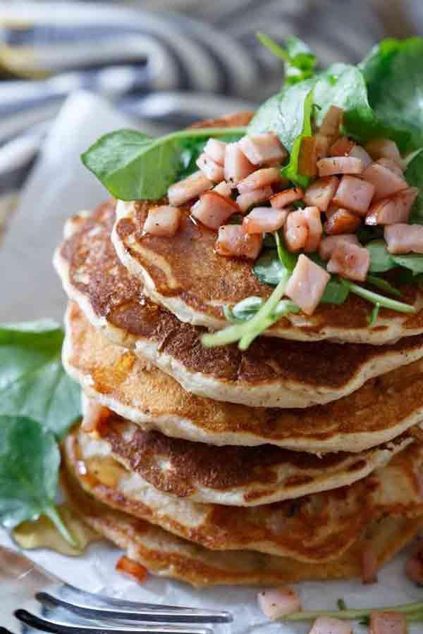 Savory Canadian Bacon Pancakes - Delicious Homemade Pancakes Recipes