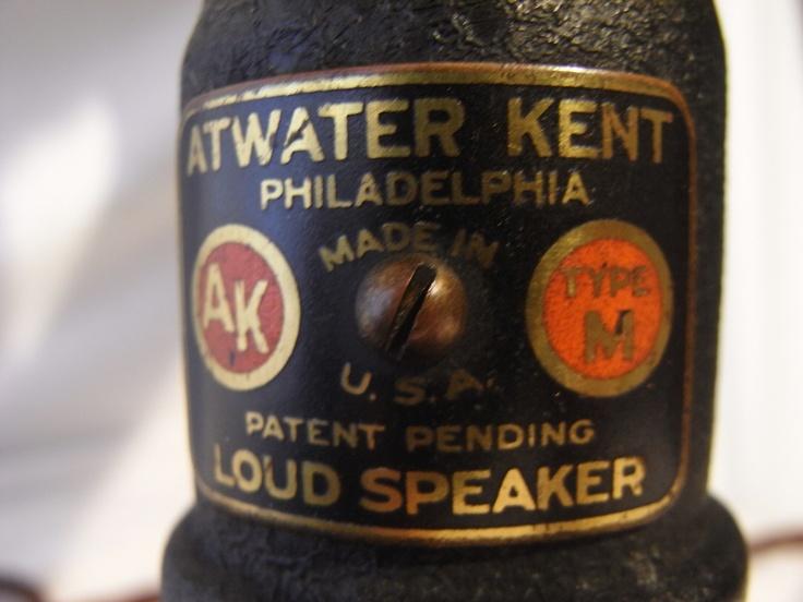 "Atwater Kent Speaker model ""M"" (1924) ""Antique radio"", ""Tube radio"""