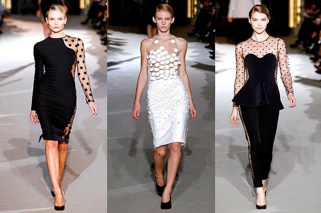Stella McCartney Fall 2011 Runway by ebmonson, via Flickr: Mccartney Fall, Ready To Wear, Polka Dots, Stella Mccartney, Style, Fashion Week, Dresses, White, Fall 2011
