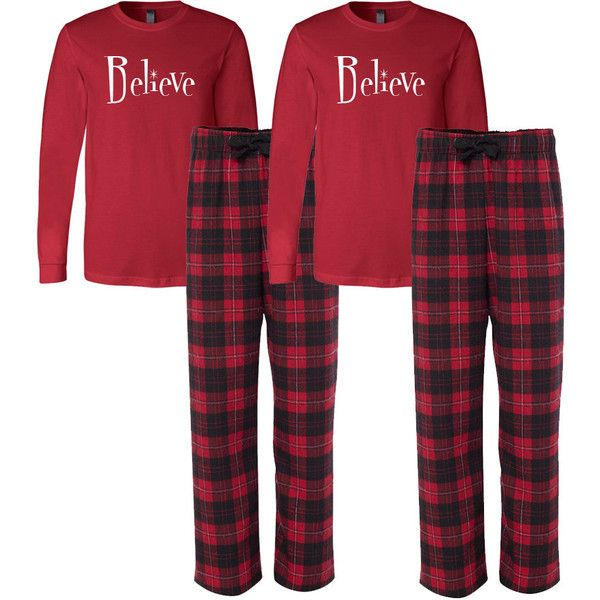 Believe Flannel Pj Set Adult Christmas Pajamas Couple's Christmas... (96 CAD) ❤ liked on Polyvore featuring intimates, sleepwear, pajamas, grey, women's clothing, flannel pajamas, christmas pajamas, flannel pajama set, flannel pjs and christmas pyjamas