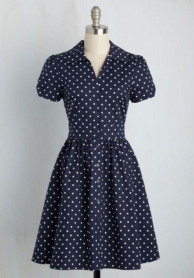 Summer School Cool Dress in Navy Dots, @ModCloth