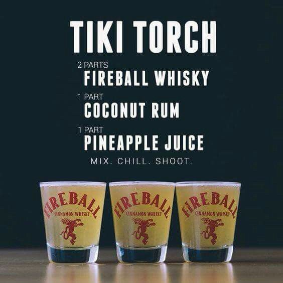 Tiki Torch shots to go with the tiki torches!  Fun shot for Grilling the Dream  #Contest
