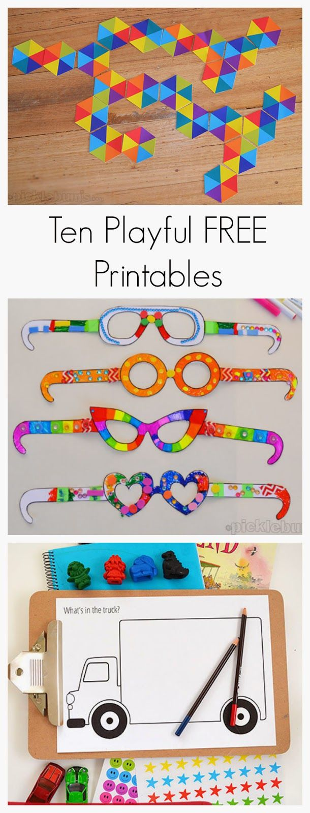 Ten Playful Free Printables for Kids from Fun at Home with Kids