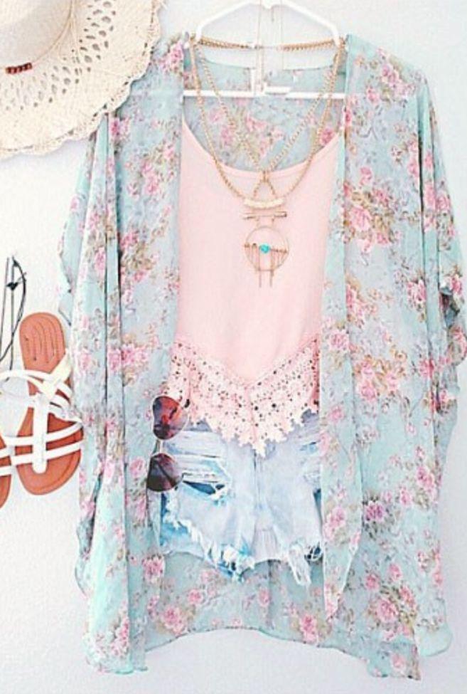Spring Floral Kimono                                                                                                                                                                                 Más