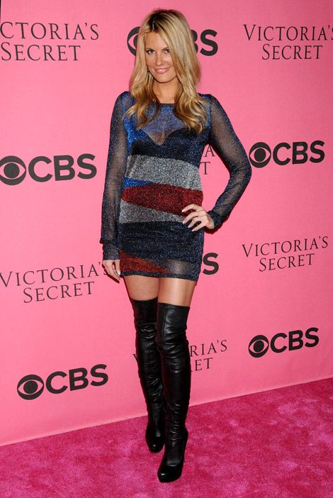 Courtney Hansen Boots | Celebrities in Boots: Courtney Hansen in Christian Louboutin Thigh ...