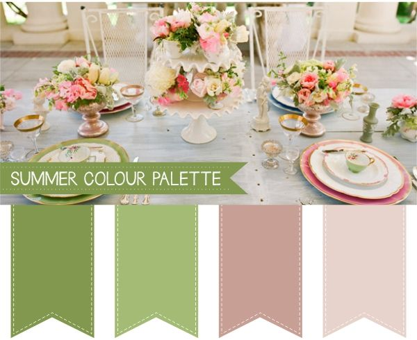 Summer Wedding Colour Palettes For more insipiration visit us at https://facebook.com/theweddingcompanyni or http://www.theweddingcompany.ie