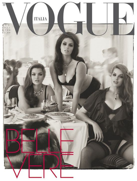 """Vogue Italia Puts Three Plus-Size Models On June Cover ... They look hotter than the """"regular"""" models!!!"""