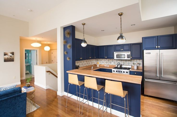 blue cabinets kitchen 1722 best decorating apartments condos amp small houses 1722
