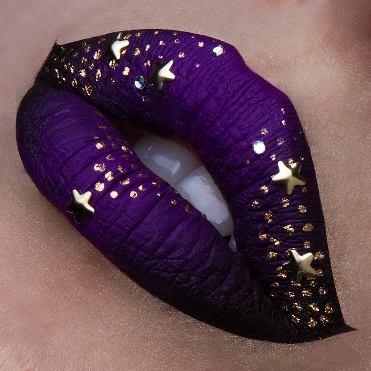 # Lip art Midnight Instagram: vladamua                                                                                                                                                      More
