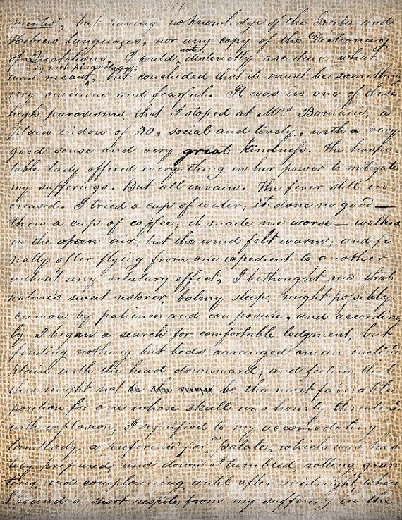 Antico vecchio documento Script calligrafia di AntiqueGraphique