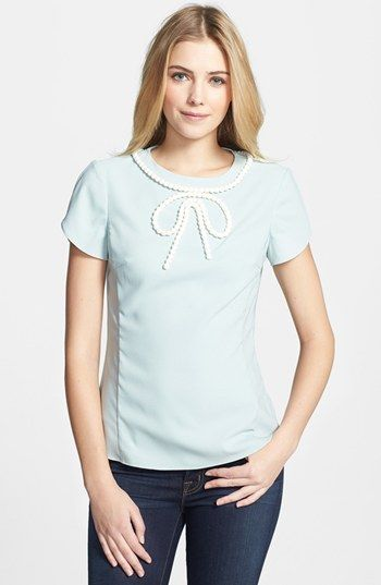 Ted Baker London Beaded Bow Shirt available at #Nordstrom