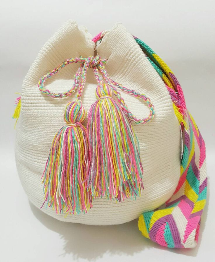 Wayuu Bag-Off white-Pastel - Alynshop