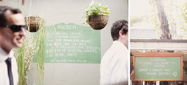 The Agenda - Sydney Wedding at The Commons.